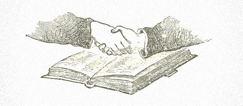 Drawing of freemasons handshake