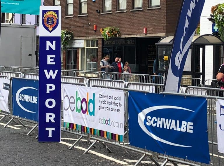 The Be Bold Banner on show at the Newport Nocturne